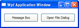 Test application window